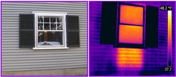 detect heat on exterior