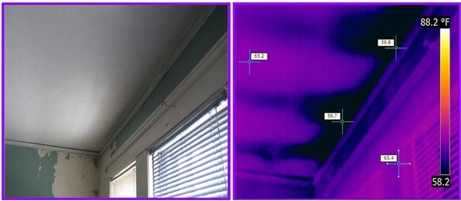 infrared detects missing insulation