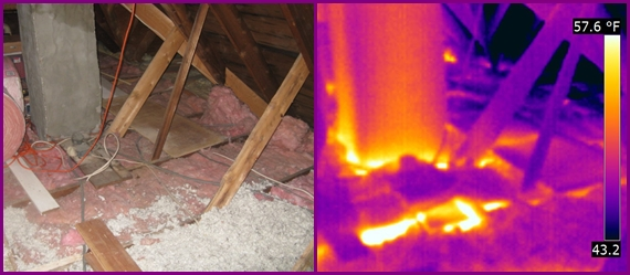 attic insulation voids