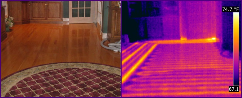 infrared through carpet