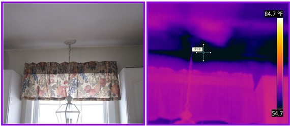 infrared detects voids in insulation