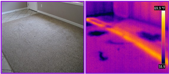 infrared detects radiant floor leak