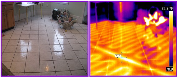 infrared detects radiant floor coils