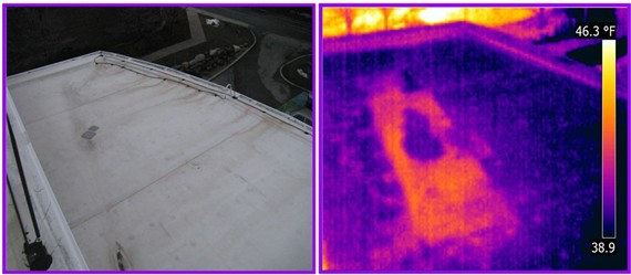 thermally scan roof flat