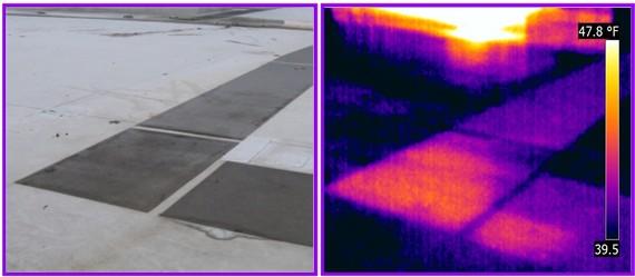 flat roof leak image